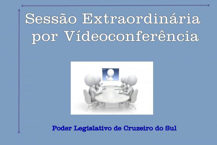 Câmara de Cruzeiro do Sul Realiza Sessão Extraordinária Virtual